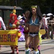 Transvestite at Gay Pride In Colorful Costume — Stock Photo