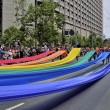 Gay Pride Rainbow Flag Demonstration — Stock Photo