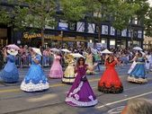 Women in Victorian Dresses at Gay Pride — Stock Photo
