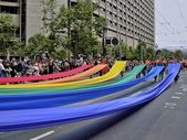 Gay Pride Rainbow Flag Demonstration — Stock Photo