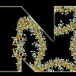 Letter N. — Stock Photo
