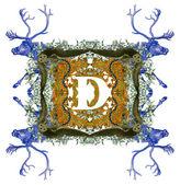 Letter D. — Stock Photo
