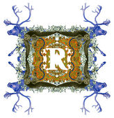 Písmeno r. — Stock fotografie