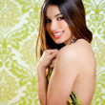 Asian Indian brunette beautiful girl sexy back dress — Stock Photo #10033582