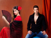 Gipsy flamenco dancer couple from Spain — Stock Photo