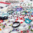 Stock Photo: Jewelry in bargain market spread