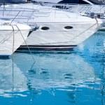 Blue mediterranean sea water in marina port — Stock Photo #10582613