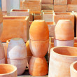 Ceramics pottery big pots for garden plants — Stock Photo #10582841