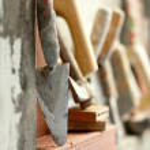 Construction mason cement mortar tools — Stock Photo