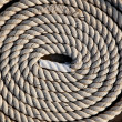 Coil of marine rope detail — Stock Photo