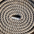 Coil of marine rope detail - Stock Photo