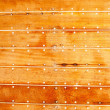Boat wooden hull texture detail with caulking putty — Stock Photo #10583405