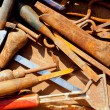 Grunge rusty messy hand tools — Stock Photo