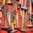 Hand tools used rusty iron aged and grunge — Stock Photo #10583424