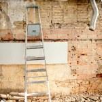 Demolition debris in kitchen interior construction — Stock Photo