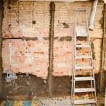 Demolition debris in kitchen interior construction — Stock Photo #10583527