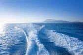 Alicante denia nas mongo góra widok z morza — Zdjęcie stockowe