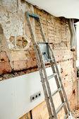 Sloop puin in keuken interieurbouw — Stockfoto