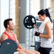 Mann und Frau Freunde auf Sport-Fitness-Studio fit — Stockfoto