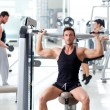 Gruppe zum Thema Fitness Sport Fitness Training — Stockfoto