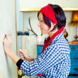 Diy fashion woman with nail and hammer - Foto de Stock