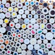 colorful buttons display round boxes pattern — Stock Photo