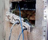 Electric plug in home improvement repair — Stock Photo
