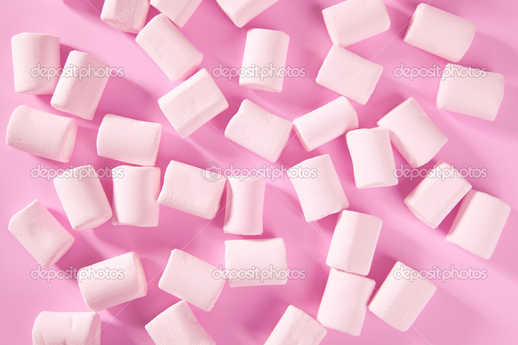 Candy pink marshmallow sweets pattern texture background — Stock Photo #8955169