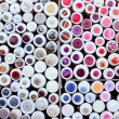 Colorful buttons display round boxes pattern — Stock Photo #8961158