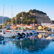 Denia mediterranean port village with castle — Stock Photo #8962212