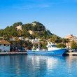 Denia mediterranean port village with castle — Stock Photo #8962277