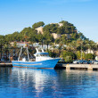 Denia mediterranean port village with castle — Stock Photo #8962370