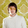 Retro man vintage glasses and turtleneck sweater — Stock Photo #9857972