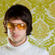 Retro man vintage glasses and turtleneck sweater — Stock Photo #9858120