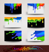 Art banners — Stock Vector
