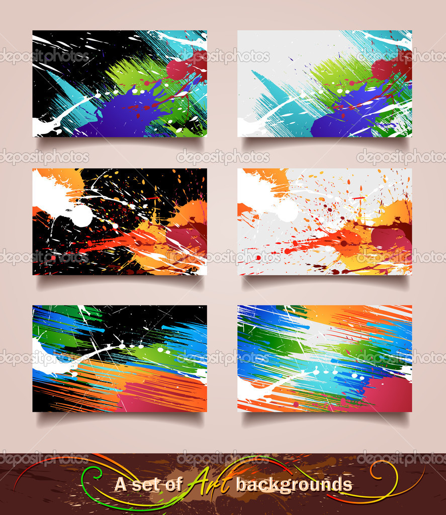A set of Art backgrounds. Vector illustration — Stock Vector #10301730