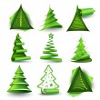 Christmas trees - Stock Vector