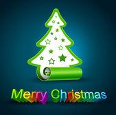 Creatieve kerstboom — Stockvector