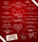 Decorative elements on Valentine's Day — Stock Vector