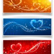 Stock Vector: Banners on Valentine's Day