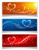 Banners on Valentine's Day — Stock Vector
