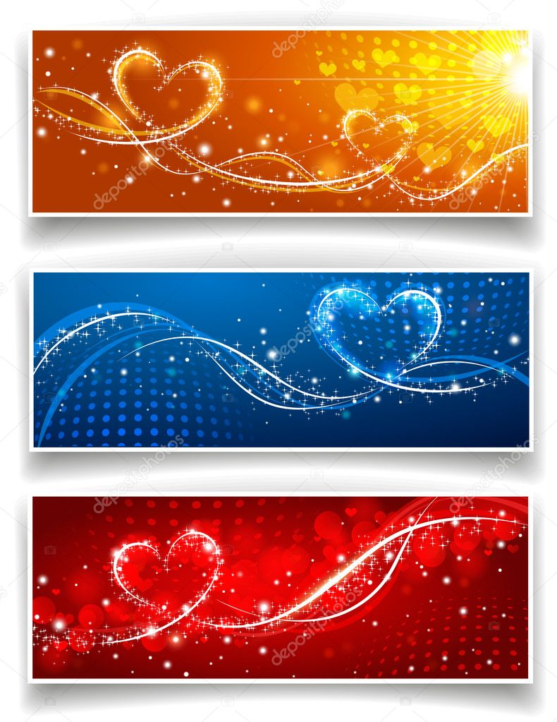 Banners on Valentine s Day. Vector illustration  Stock Vector #8610202