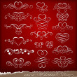 Royalty-Free Stock Vector Image: Decorative elements on Valentine\'s Day
