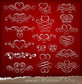 Decorative elements on Valentine's Day — Stock Vector