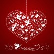 Royalty-Free Stock Vector Image: Heart with set of icons