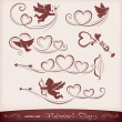 Icons for Valentine's Day - Stockvectorbeeld