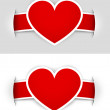 Heart labels — Stock Vector