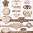 Decorative elements on Valentine&#039;s Day - Stock Vector