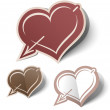 Heart labels — Stock Vector #8969433