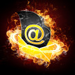 Email on Fire — Stock Photo